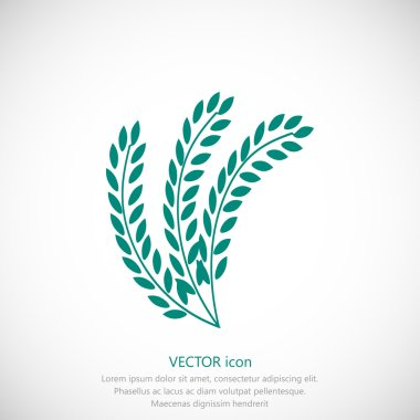 simple wheat icon