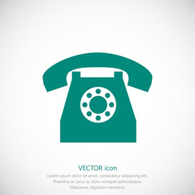 simple telephone icon