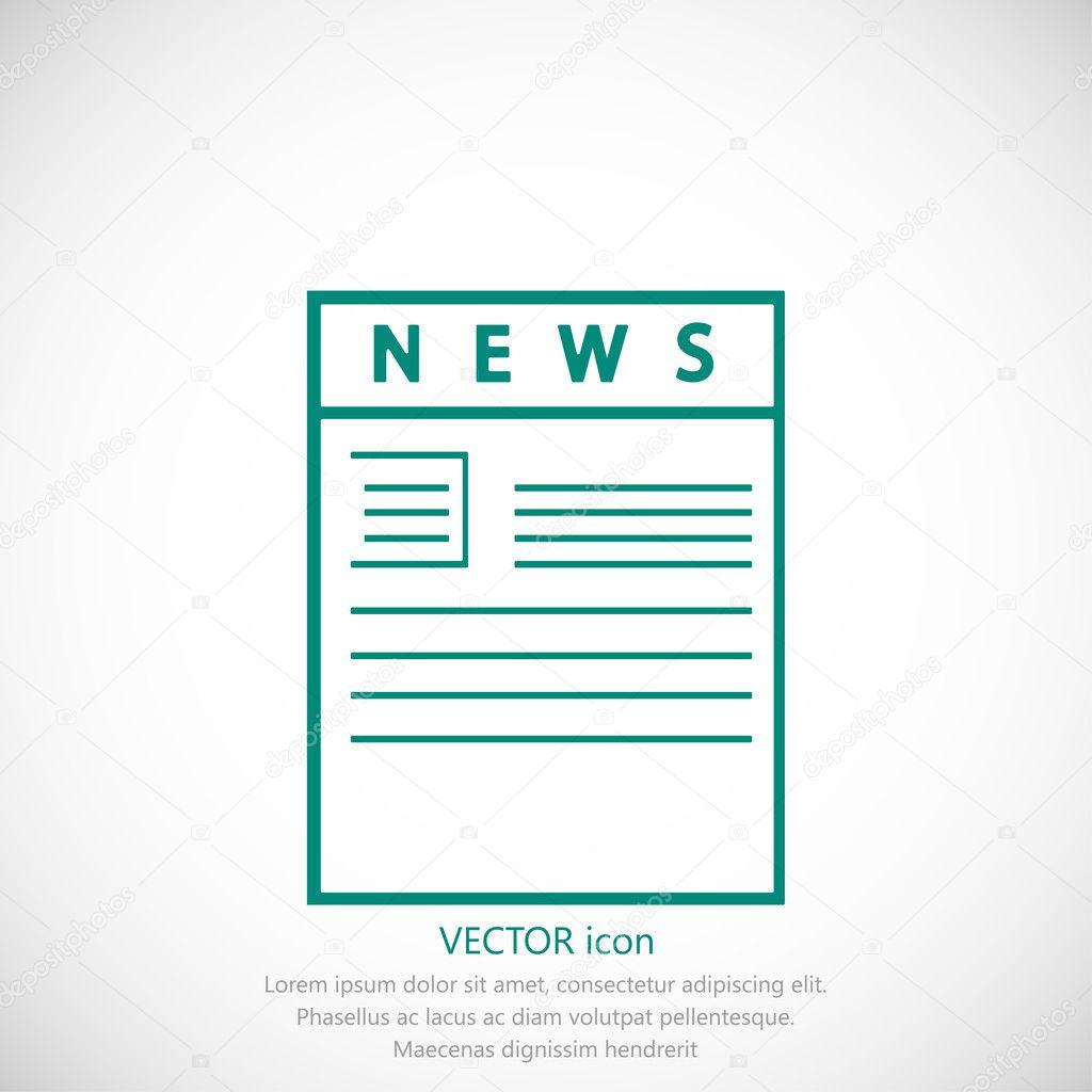 simple newspaper icon — stock vector © simva #127998994