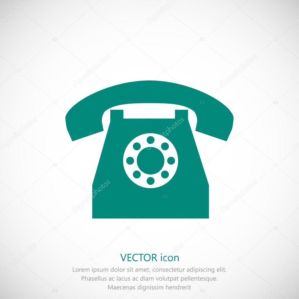simple telephone icon