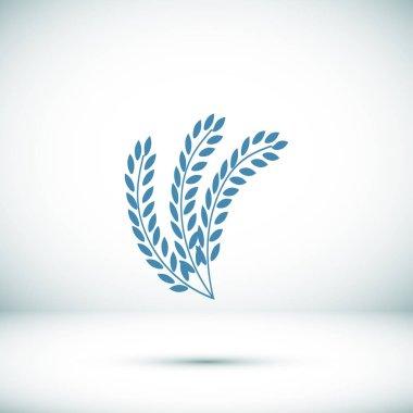 wheat plant icon