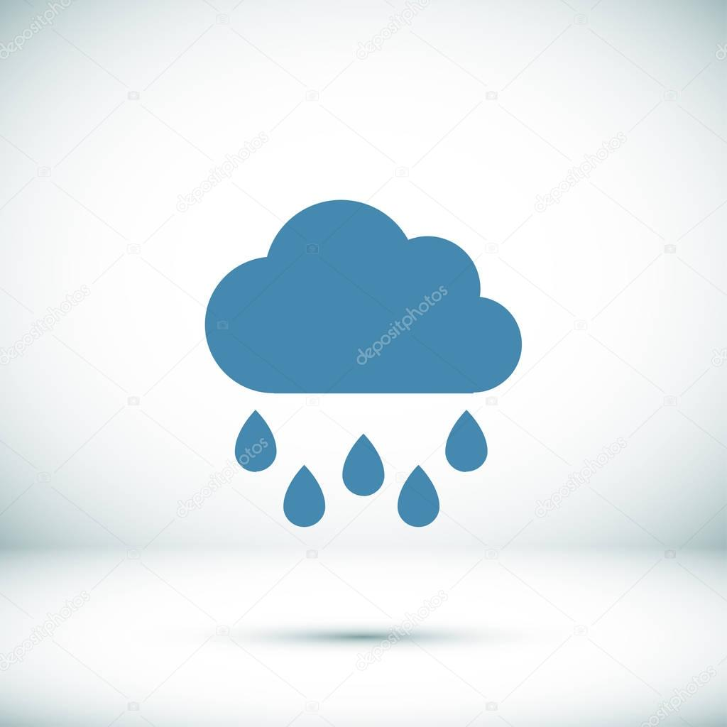weather raincloud  icon