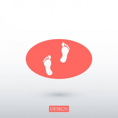 human feetprint icon