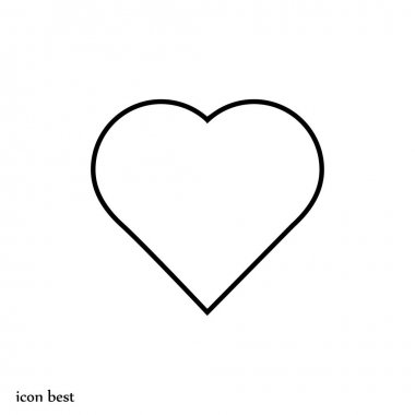Heart simple icon, vector illustration stock vector