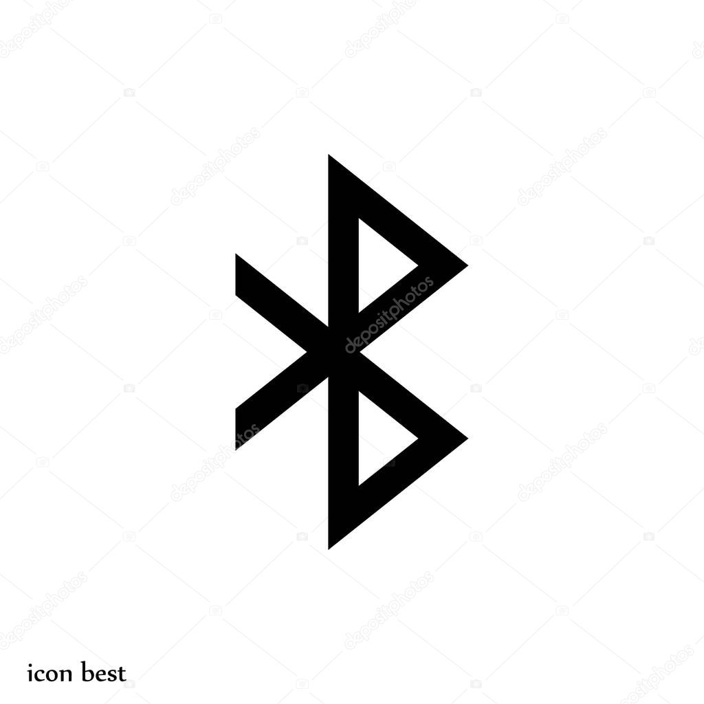 bluetooth sign icon