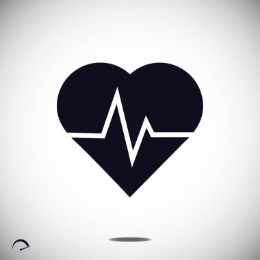 simple heartbeat icon