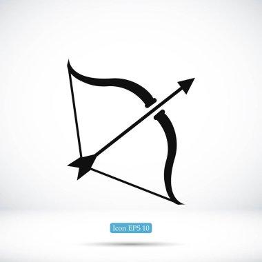 Cupid bow icon, vector illustration clip art vector