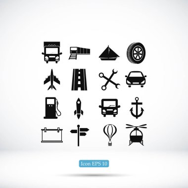 simple Transport icons