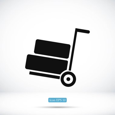 simple wheelbarrow icon