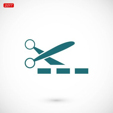 Scissors simple web icon