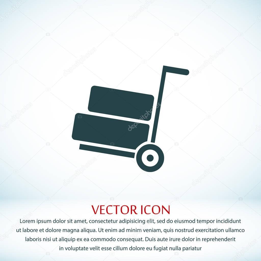 wheelbarrow flat icon