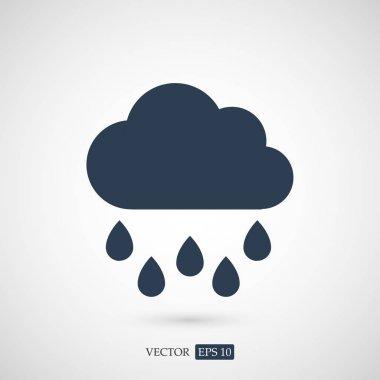 Rain cloud icon, vector illustration clip art vector