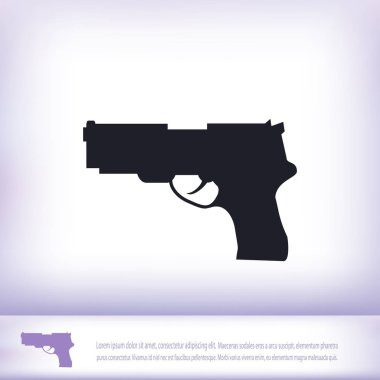 illustration of gun icon
