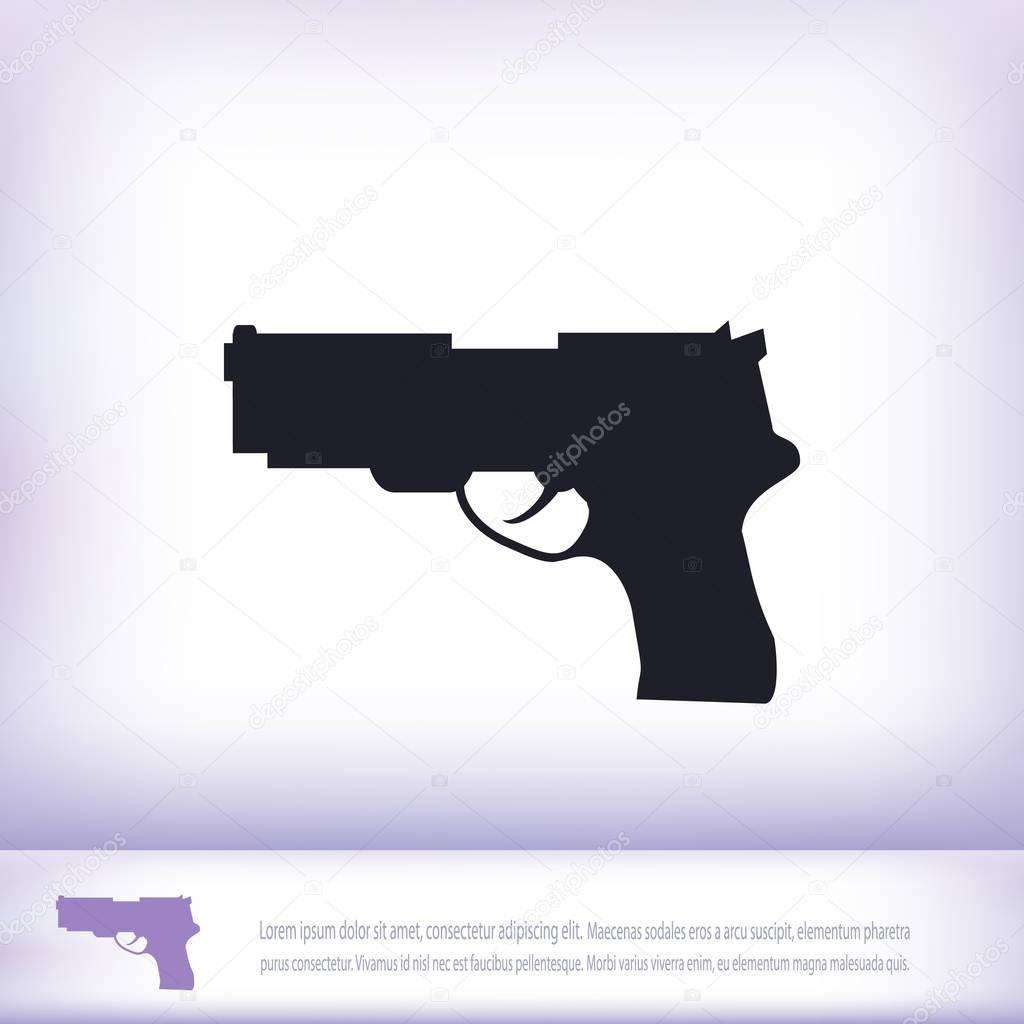 illustration of gun icon