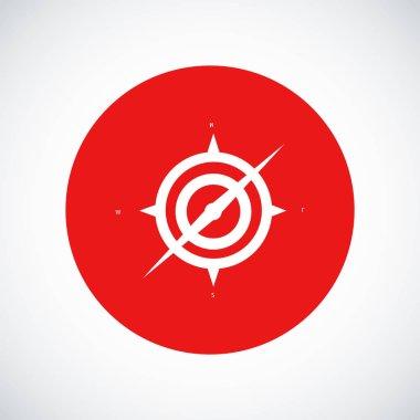 White compass icon