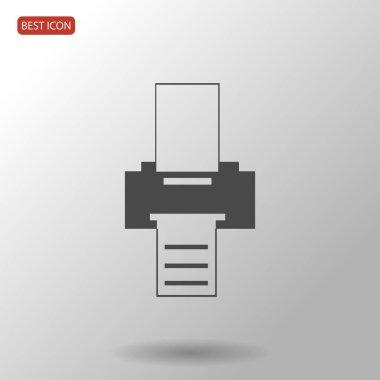 Black printer icon