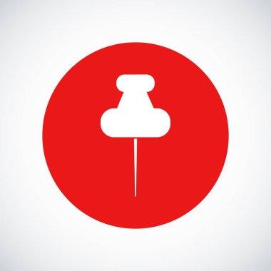 White pushpins icon