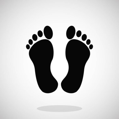 Black feet icon