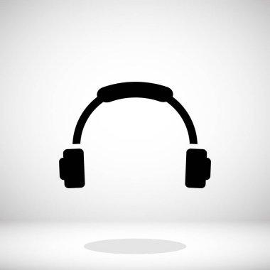 Black headphone icon