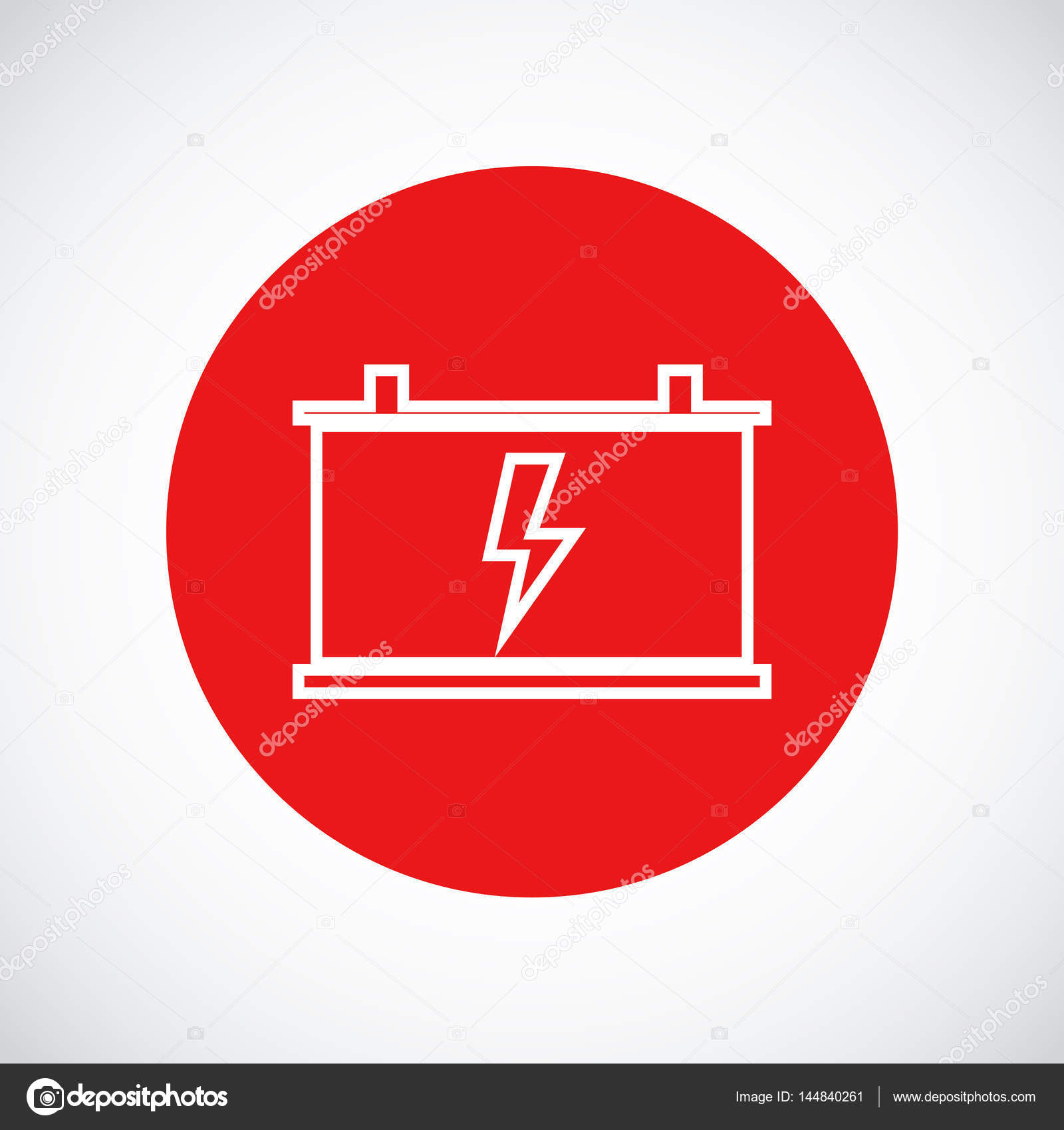 Car Battery Icon Stock Vector C Simva 144840261