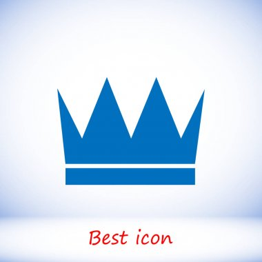 Blue crown icon