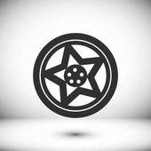 Kerék lapos ikon