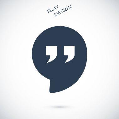 Quote flat icon