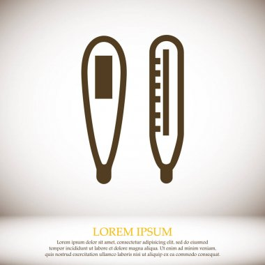 Thermometer indicators vector icon clip art vector