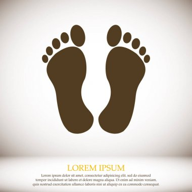 footprints web icon