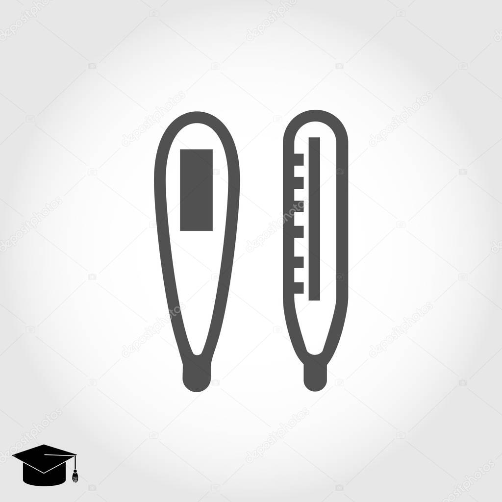 thermometers flat  icon