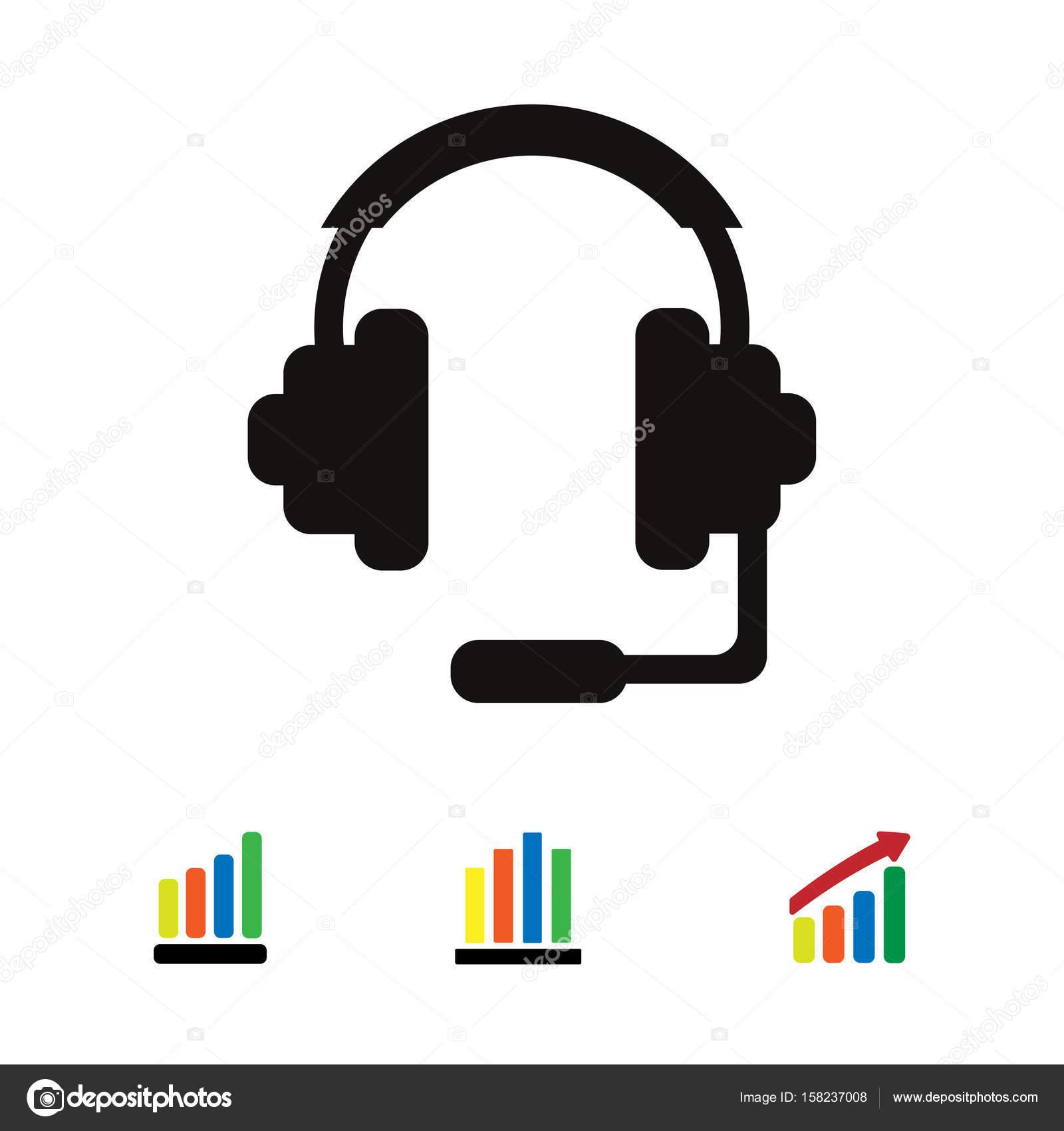 Kopfhörer-Zeichen-Symbol — Stockvektor © SimVA #158237008