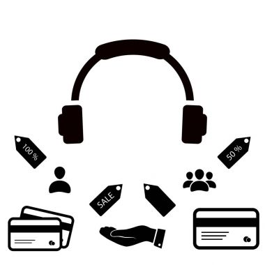 Headphones simple icon