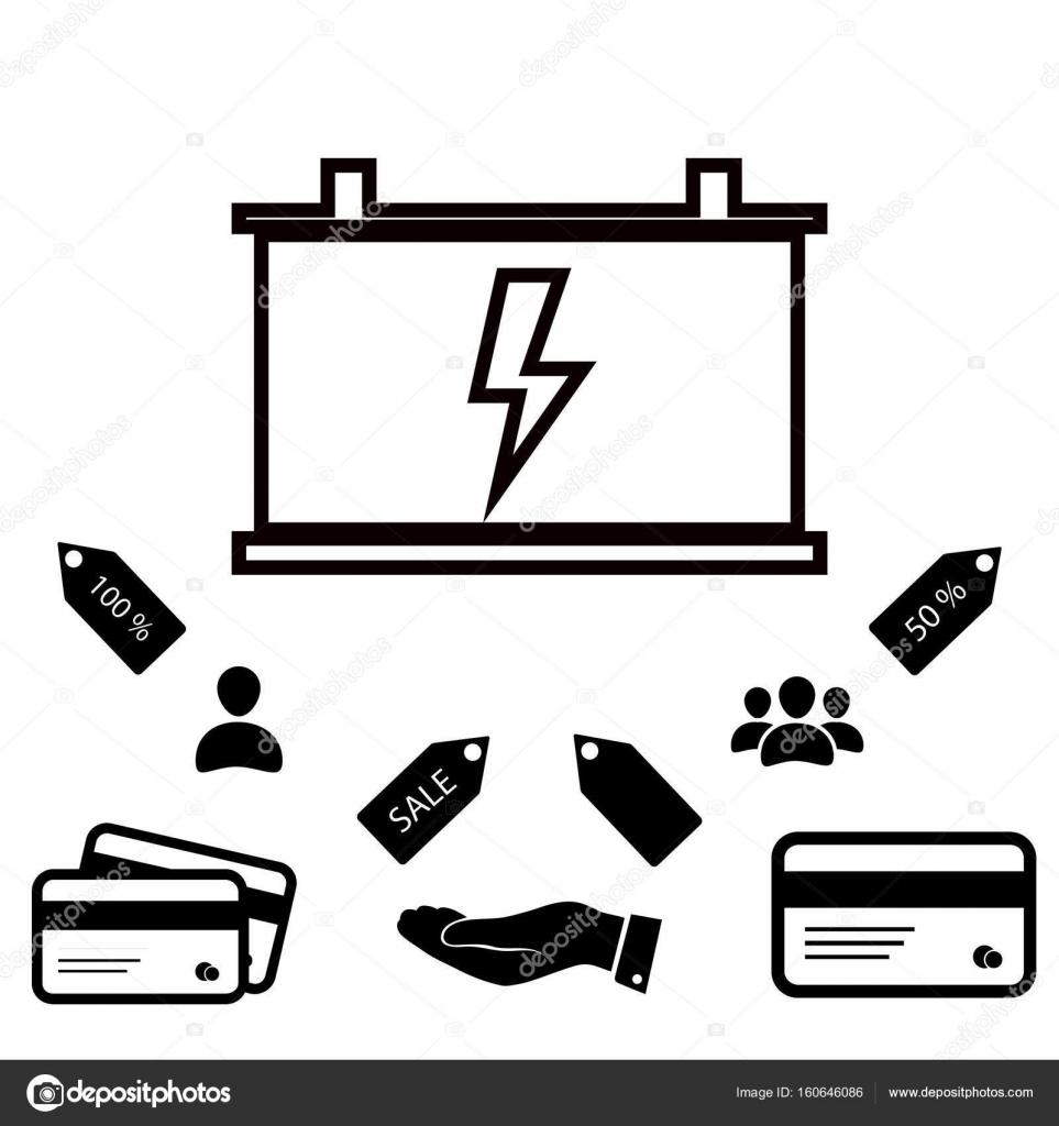 car battery vector icon stock vector c simva 160646086 depositphotos