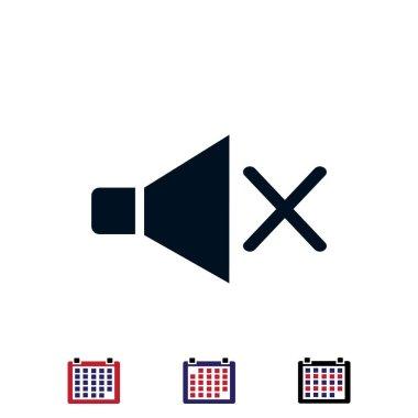 Speaker sign icon