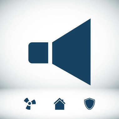 Speaker best flat icon