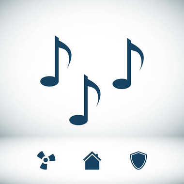Music notes sign icon