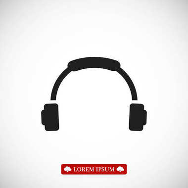 Headphones sign icon
