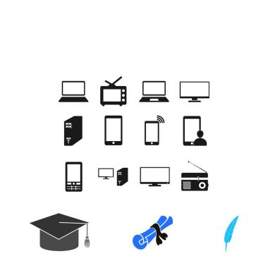 Communication device icons, vector best flat icon, EPS