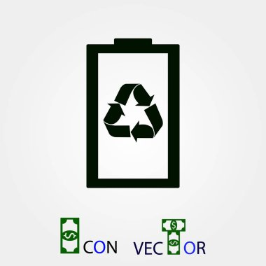 Battery load icon, vector best flat icon, EPS