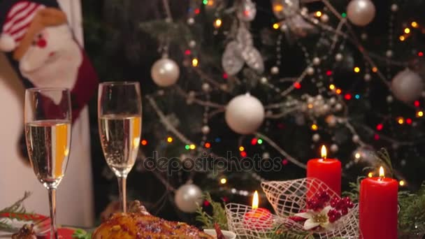 New Year festive table