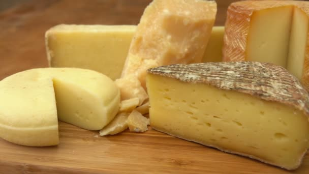 French of cheese on a wooden table.