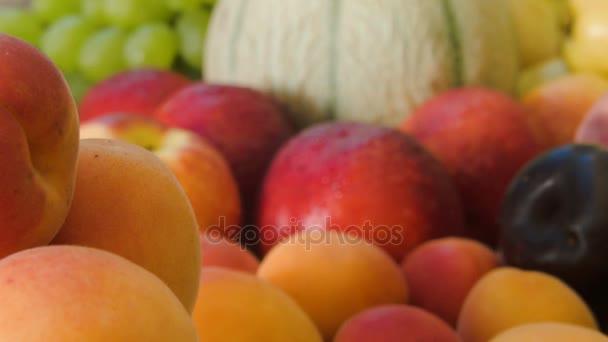 Detailní záběr Zralé šťavnaté meruňky