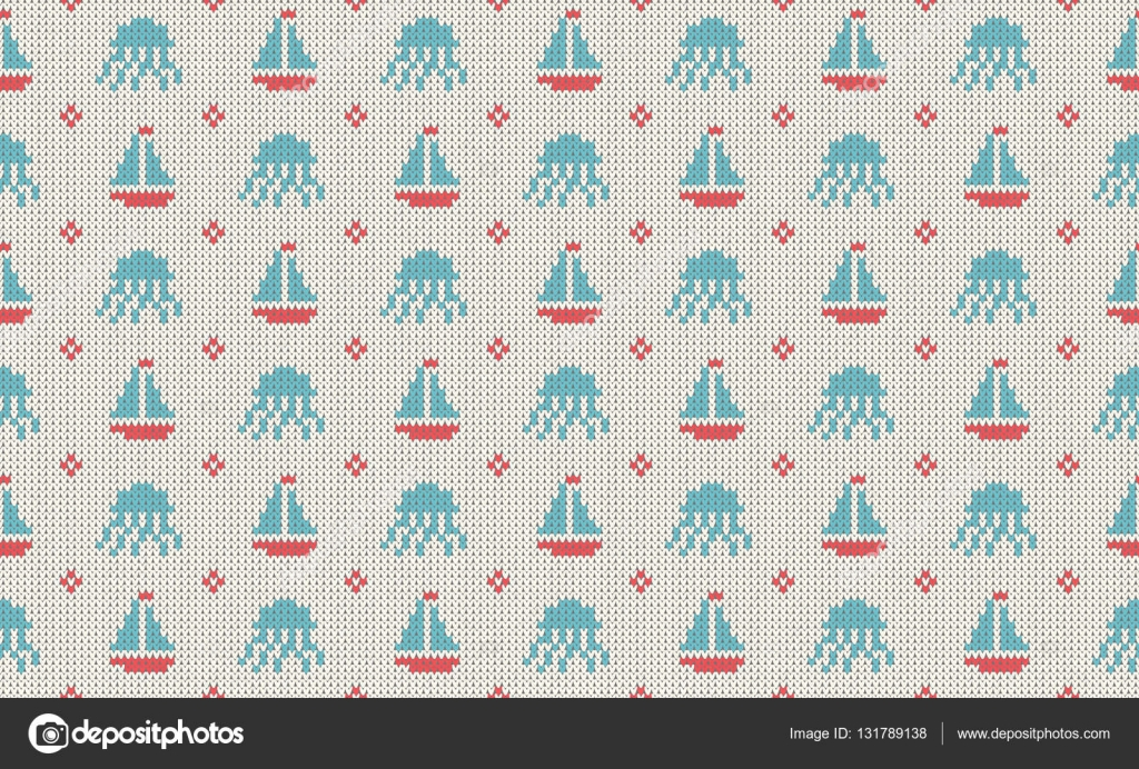Gmail blue theme -  Turquoise Red And Dark Blue Colors Sea Theme Seamless Patterns Woolen Knitted Texture Vector Illustration Vector By Vaskinamat158 Gmail Com