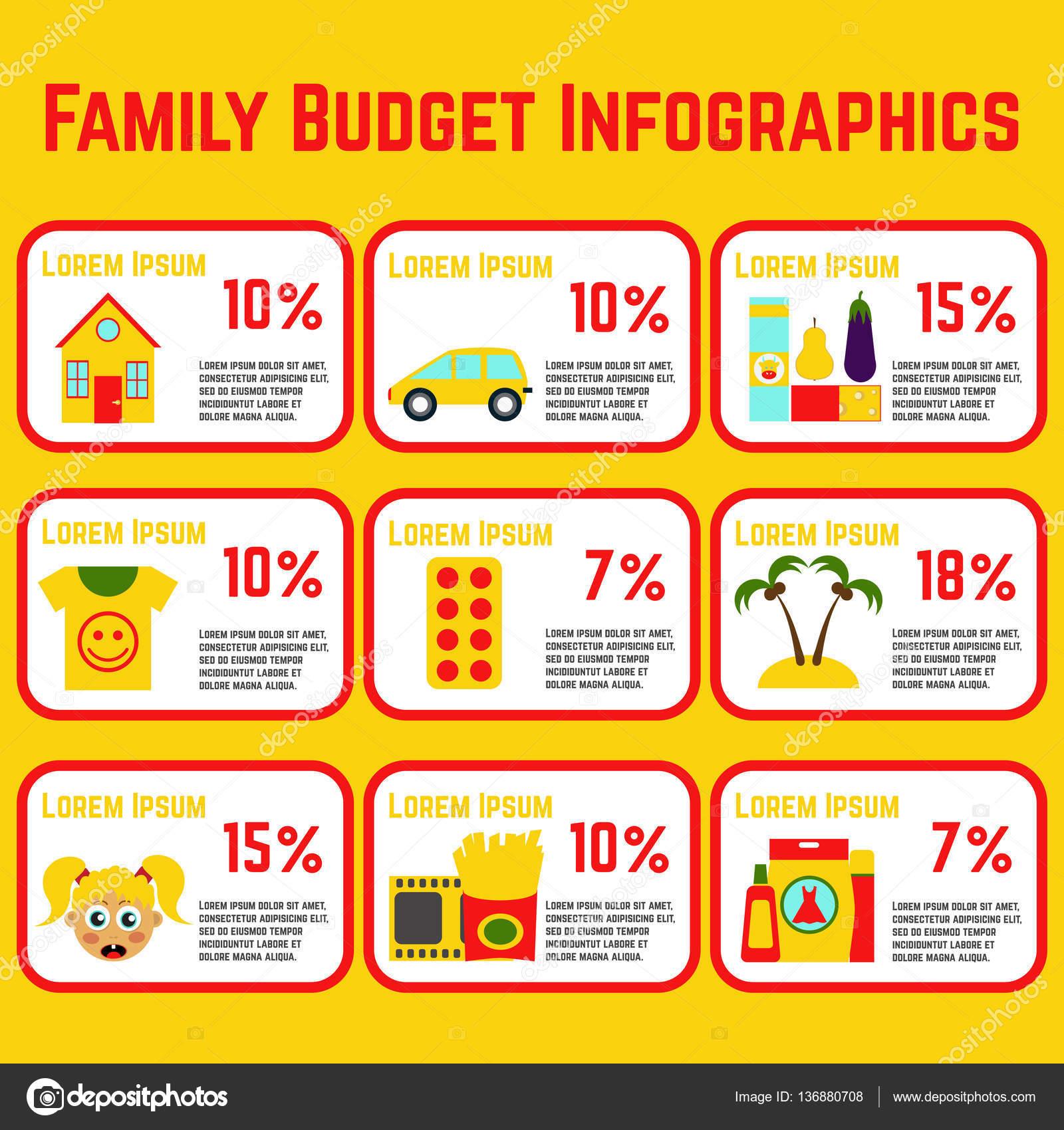 infografía de presupuesto familiar archivo imágenes vectoriales