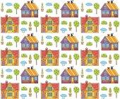 Roztomilý domy vzor