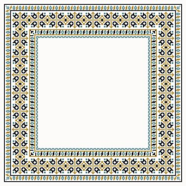 cross-stitch ornamental  border