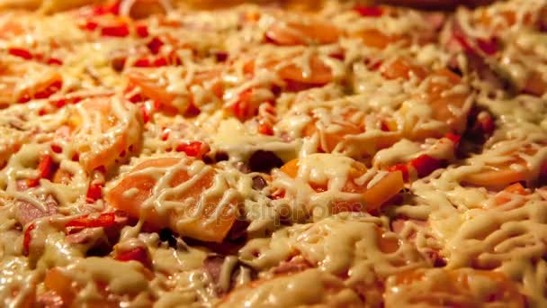 Rising Pizza in the oven. 4k timelapse. Homemade bakery concept