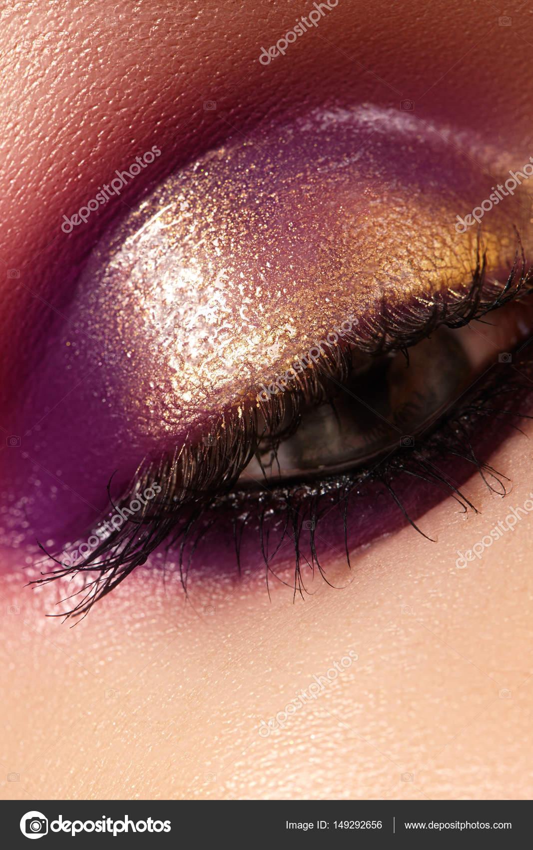dress - Makeup eye purple close up photo video