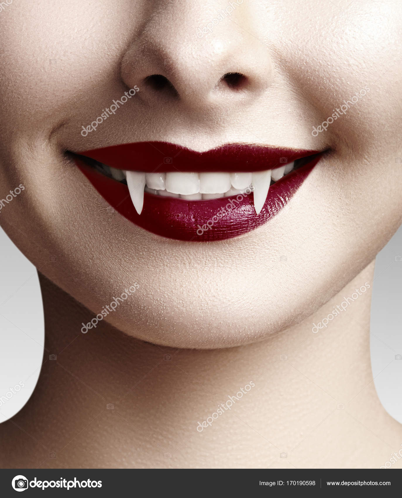 Sexy woman blood on mouth