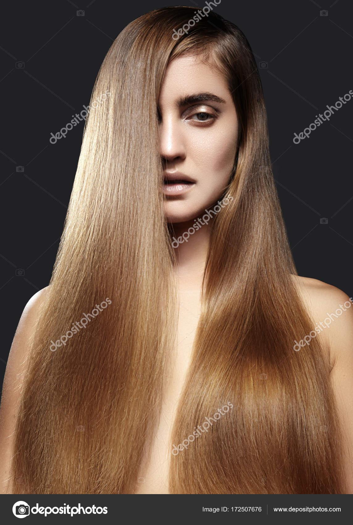 frisur lange braune haare